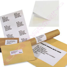 A4 SHEETS OF PLAIN WHITE SELF ADHESIVE ADDRESS LABELS 1 PER PAGE  *SELECT QTY*