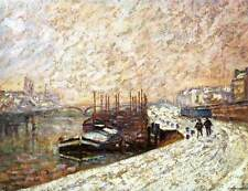 Photo Print Barges in the Snow Guillaumin, Armand - in various sizes jwg-21375