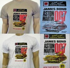 ASTON MARTIN DB5 T-SHIRT - James Bond 007 Goldfinger - Corgi model No.261 Advert