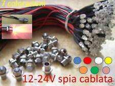 Cielo Stellato 10 X LED 5mm 12-24V Cablati spia Lampada holder pre-wired RGB
