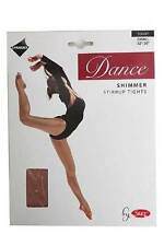 Silky Childrens Girls Stirrup Foot Shimmer Dance Tights Light Toast