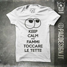 T-SHIRT KEEP TOCCARE TETTE MILF SEX IRONIC DRUNK WHY SO HAPPINESS