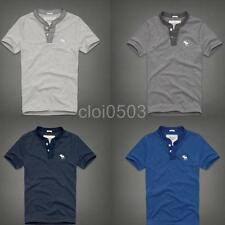Abercrombie & Fitch DICKERSON NOTCH Short Sleeve Henleys T-Shirt
