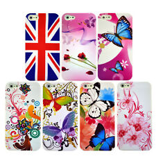 7 Flower Butterfly Pattern Hard Skin Mobile Phone Case Cover For Apple iPhone 5