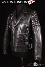 REBEL Black Men's Biker Motorcycle Motorbike Cruiser Lambskin Leather Jacket
