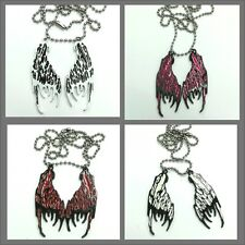 Poizen Industries Evil Fairys wings necklace, choice of 4 colours emo goth