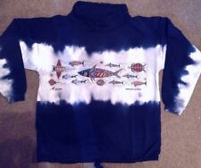 Sweat Shirt Long Sleeve Pullover Batik Aborigines Känguru Australien