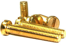 M5 (5mm) SOLID BRASS SLOTTED PAN HEAD METRIC MACHINE SCREWS PAN HEAD BOLTS