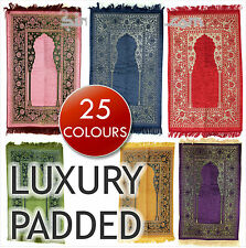 Luxury Padded Turkish Prayer Mat Rug Sponge Janamaz Muslim Islamic Gift