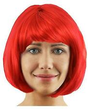 RED BOB WIG SHORT FANCY DRESS COSPLAY FASHION BABE HALLOWEEN DEVIL ANIME HAIR