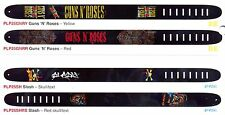 Perri's - Guns and Roses Real Leather Guitar Straps in a Choice of 5 Designs