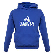 I'd Rather Be Scrambling - Kids / Childrens Hoodie - Motocross - Motorbike