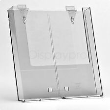 A6 DL A5 A4 Slatwall Leaflet Holders Brochure Flyer Shop Dispenser for Slat Wall