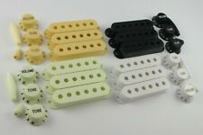 PICK UP COVERS 52mm or 50mm, KNOBS & TIPS in 4 Colours for Stratocaster guitars