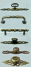 2 x Traditional Antique Brass Cupboard Cabinet Drawer Draw Door Pull Handles