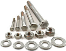 M10 A2 STAINLESS PART THREADED BOLT SCREW + FULL NUT & WASHERS HEXAGON HEX HEAD