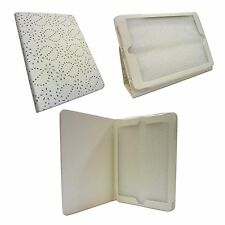 WHITE DIAMOND BLING GLITTER PU LEATHER CASE COVER FOR  APPLE IPAD AIR