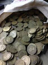 BRASS THREE PENCE OLD COINS BULK LOT CHOOSE THE AMOUNT 10 TO 1000 FREE POSTAGE