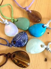 CRYSTAL GEMSTONE PENDANT NECKLACE JEWELLERY HEALING REIKI NEW AGE WICCAN PAGAN