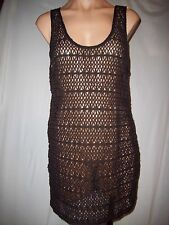 NWT VICTORIAS SECRET BEACH SEXY BLACK CROCHET SWIM COVER UP DRESS