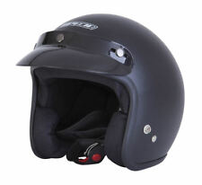 SPADA MATT BLACK OPEN FACE CRUISER SCOOTER MOTORCYCLE MOTORBIKE HELMET + PEAK