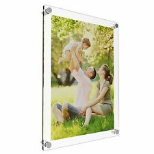 A4 Acrylic Photo Frames Perspex Wall Picture Holder Clear & Coloured Display