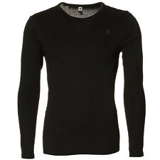 G-star Raw round-Neck base crew langarm Shirt schwarz rundhals D07204 124 990