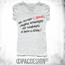 T-SHIRT DONNA LOVE VOCABOLARIO AMORE IRONIC WHY SO HAPPINESS NE0055A