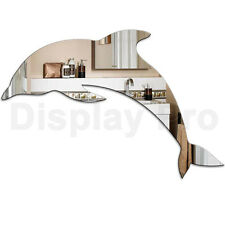 Dolphin Acrylic Mirror - Home Bathroom Bedroom Childrens Wall Decor Shatterproof