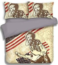 Jimi Hendrix Quilt Cover set Available in  Double, Queen & King Bed - Great Gift