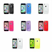 APPLE IPHONE 5C S-LINE SILICONE GEL COVER CASE AND SCREEN PROTECTOR