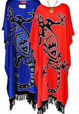 GECKO LIZARD BATIK LONG KAFTAN BEACH COVER UP LADIES SUMMER PLUS SIZE DRESS