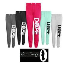 New Ladies Girls Dope Diamond Jogging Tracksuit Sweat Joggers Bottoms Pants