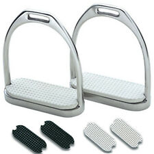 Plain Stirrup Irons & Treads- Classic Pony Horse Riding Jumping Showing Dressage
