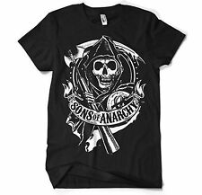 Official UNISEX Loose Fit SONS OF ANARCHY Reaper Logo T Shirt