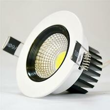 6W LED ROUND COB  WHITE FINISH CEILING LIGHT RECESSED DOWNLIGHT DAY WARM WHITE