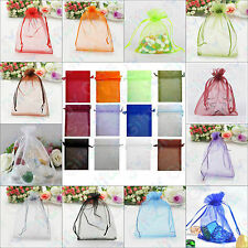 100pcs Organza Wedding Birthday Party Bridal/Baby Shower Jewelry Pouch Gift Bag