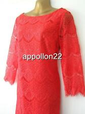 New Monsoon LOLO LACE Red Tunic Dress szs 10 12 Wedding/Party/Cruise
