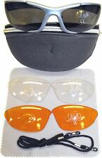 Crane Cycling Sun Glasses 3 Lens Interchangeable lenses Ski Sports Driving Case