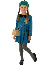 Evacuee Girl Fancy Dress Costume World War 2 Childrens 1940s Kids Book Outfit