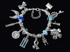 DR WHO TARDIS CHARM BRACELET 10TH,12TH,13TH,16TH,18TH,21ST GIFT IDEA. GIFT BOXED