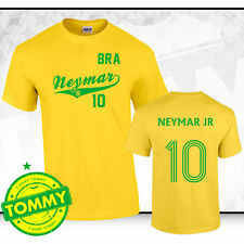 Brazil World Cup Shirt Neymar Fan T-Shirt World Cup Brazil 2014 Yellow