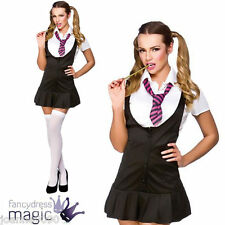 ADULT WOMENS LADIES SEXY NAUGHTY SCHOOLGIRL UNIFORM ST TRINIANS HEN FANCY DRESS