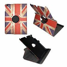 VINTAGE UNION JACK LEATHER360 DEGREE ROTATINGCOVER FOR IPAD iPAD MINI2SLEEP WAKE