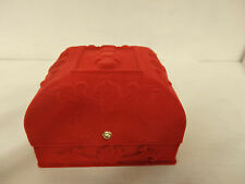 Luxurious red velvet watch gift boxes bracelet embossed carved uk classic style