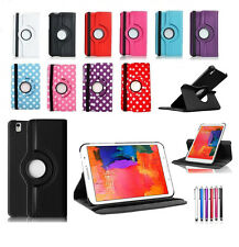 """New Leather 360 Stand Case Cover For Samsung Galaxy Tab Pro 8.4"""" 10.1"""" 12.2""""Inch"""