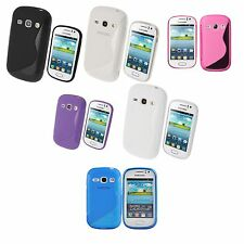 SAMSUNG GALAXY FAME S6810 S-LINE SILICONE GEL COVER CASE AND SCREEN PROTECTOR