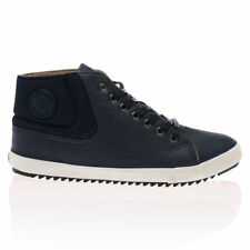 MENS NICHOLAS DEAKINS PHELPS HI TOP TRAINERS PHELPS WAXED CANVAS NAVY ALL SIZES