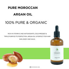 ARGAN OIL 100% PURE ORGANIC MOROCCAN ARGAN FOR SKIN, BODY & HAIR 100ml / 50ml