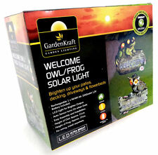 GardenKraft Garden Lighting - Frog Owl Welcome Automatic LED Solar Garden Light
